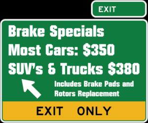 Brake Repair Specials
